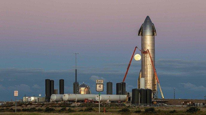 SpaceX провела предстартовый запуск двигателей Starship SN9