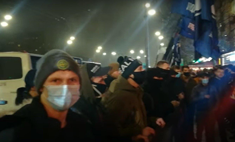 Как националисты пикетировали посольство Израиля в Киеве