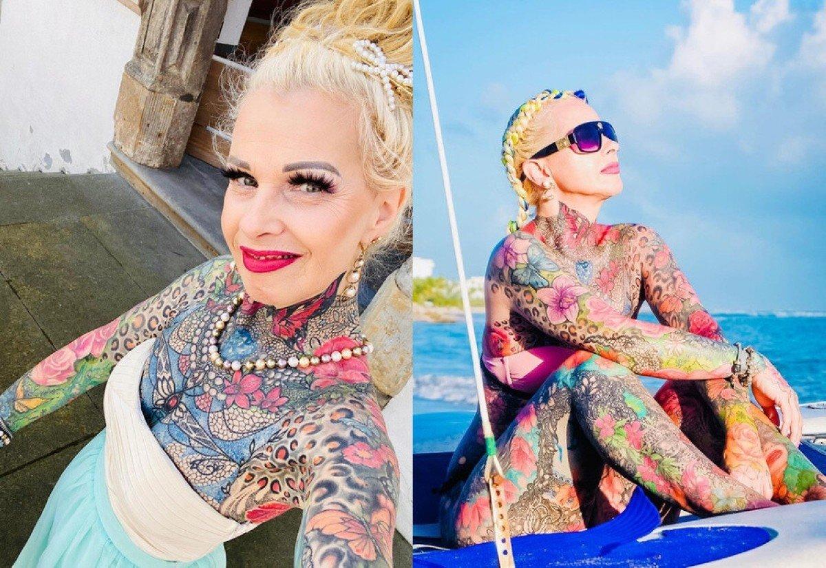Немка потратила 30 тысяч евро на татуировки (фото)
