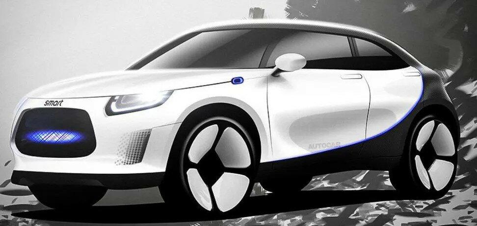 Geely и Mercedes-Benz скоро покажут электрический внедорожник