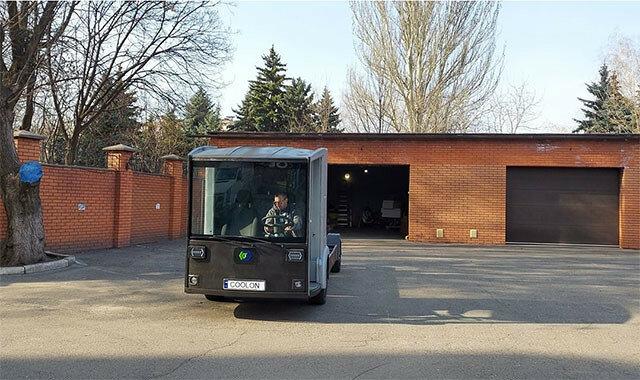 Первый украинский электромобиль засняли на дорогах