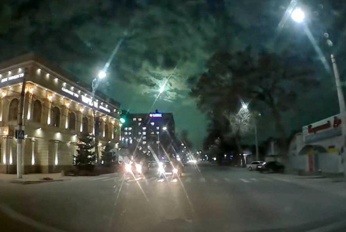 Падение метеорита в Киргизии запечатлели на видео
