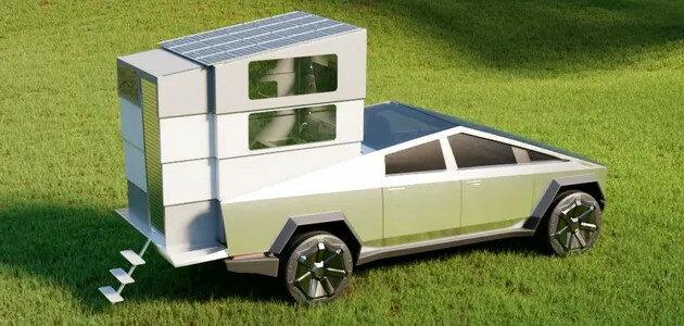 На базе Tesla создали складной кемпер CyberLandr