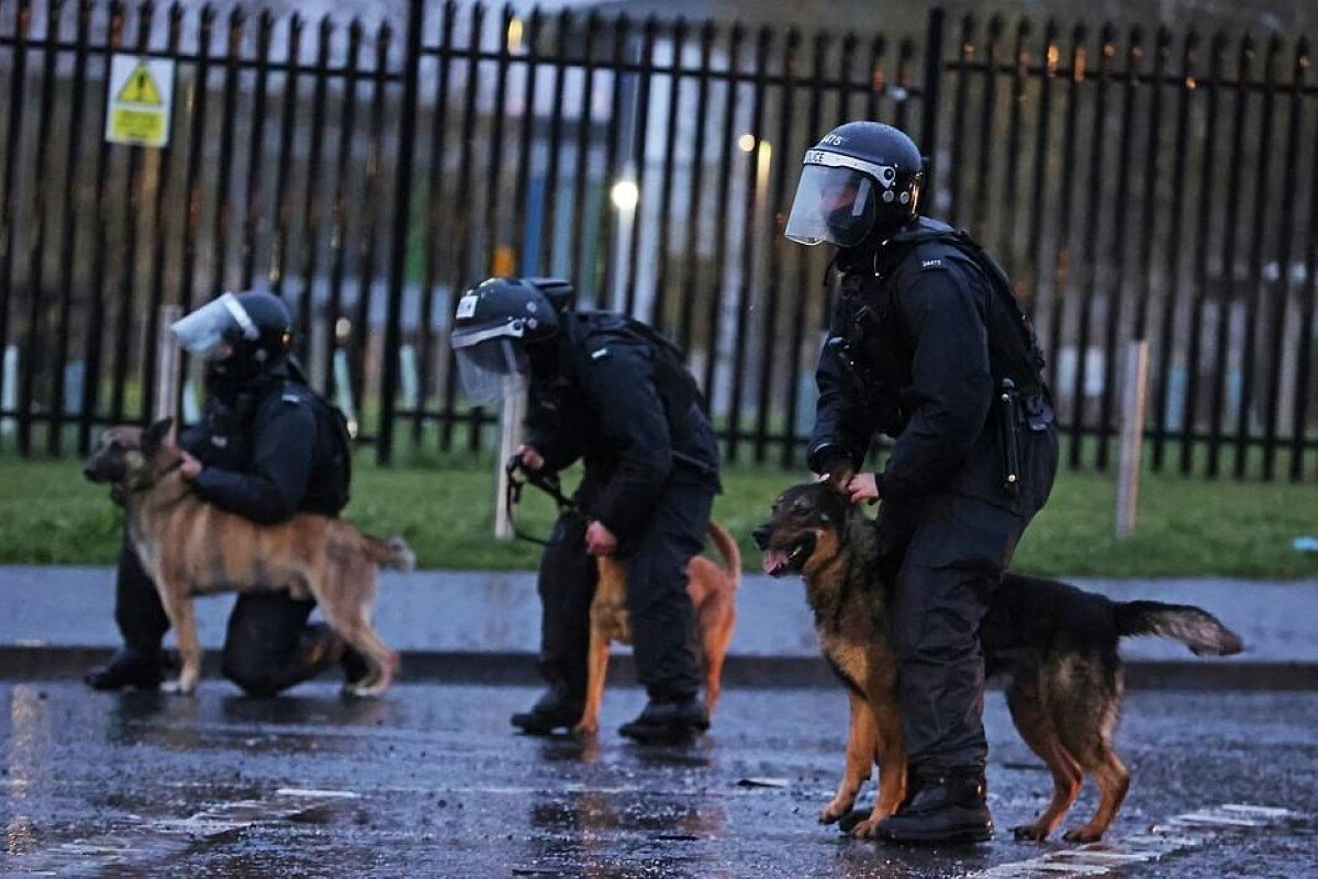 В Северной Ирландии уже 7-й день не утихают протесты (фото)