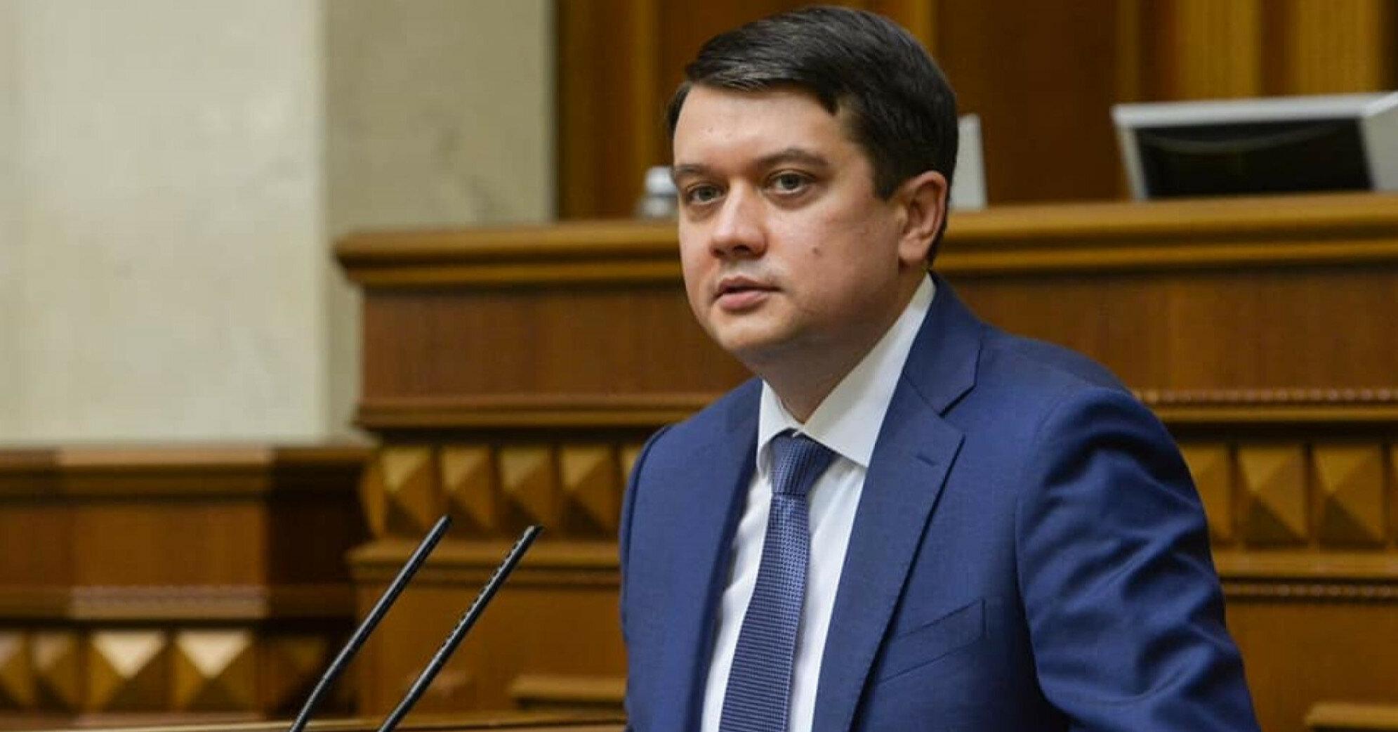 Разумков у питанні припинення авіасполучення з Білоруссю вбачає недоробки