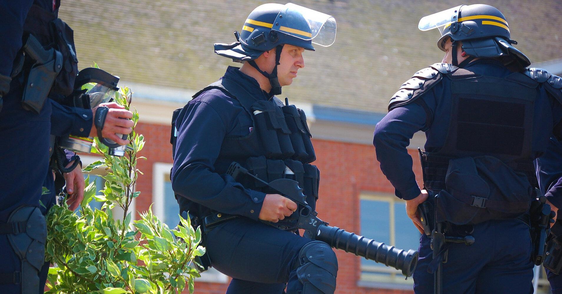 Напавший на полицейскую во Франции скончался после задержания