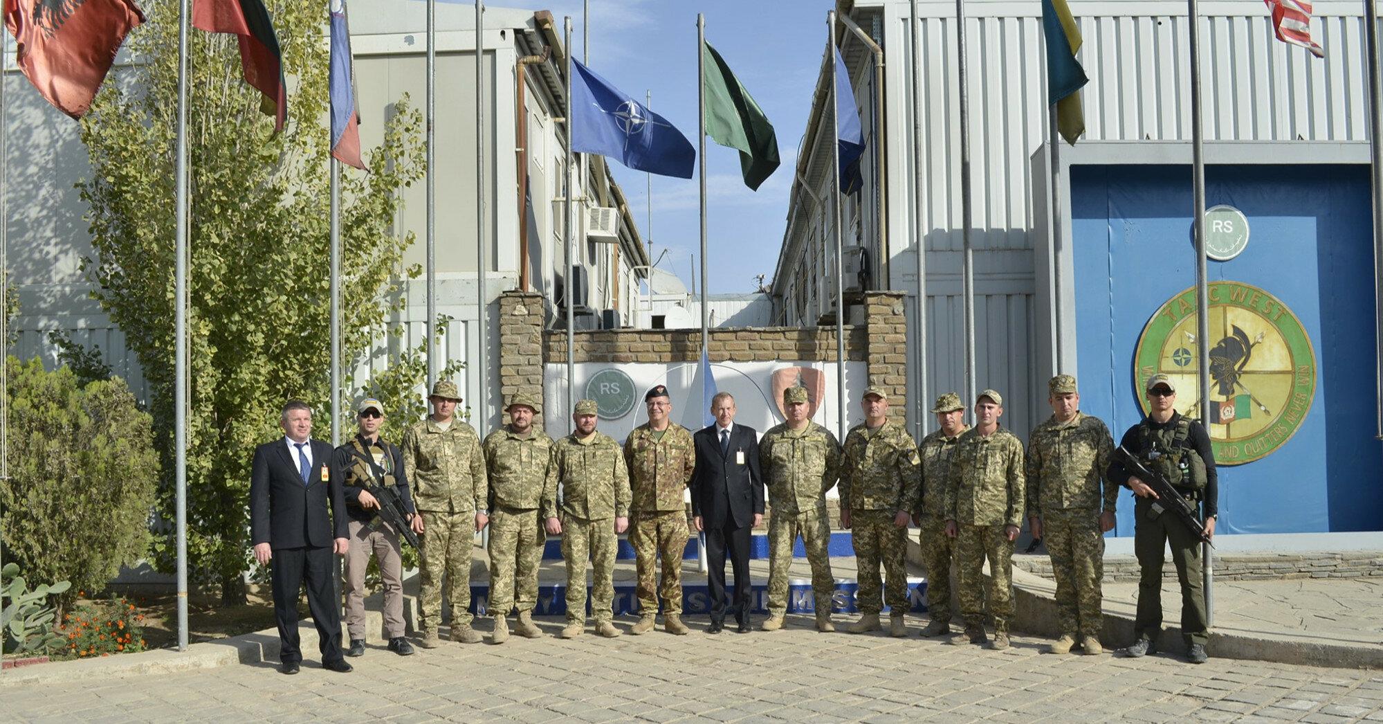 Украинский контингент вернулся из Афганистана