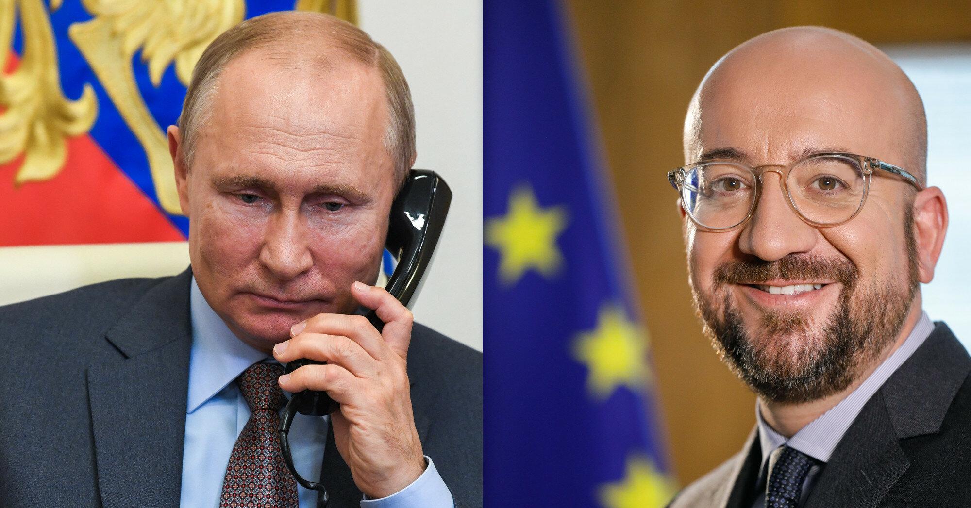 """Путин обсудил Донбасс и """"Минск"""" с главой Евросовета"""