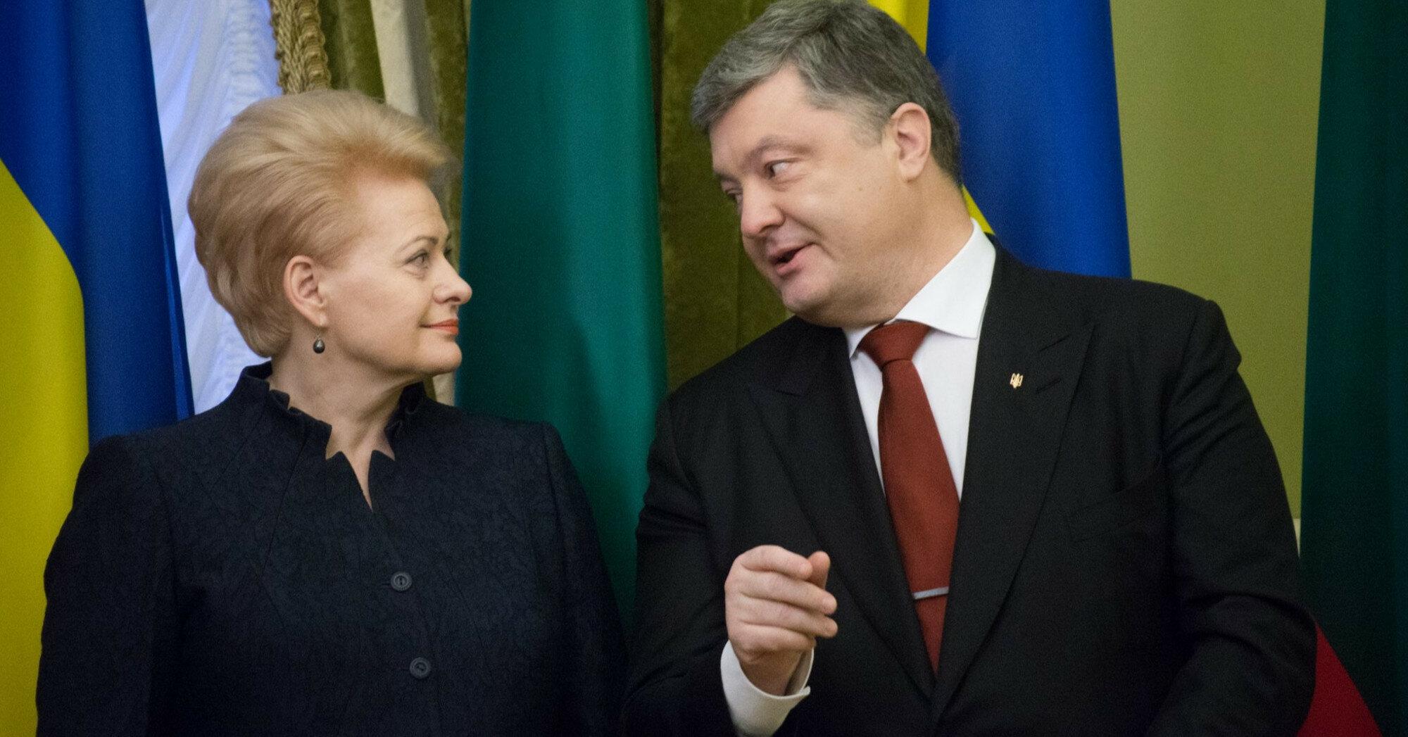 """Порошенко и Грибаускайте поговорили о """"СП-2"""" и санкциях против РФ"""