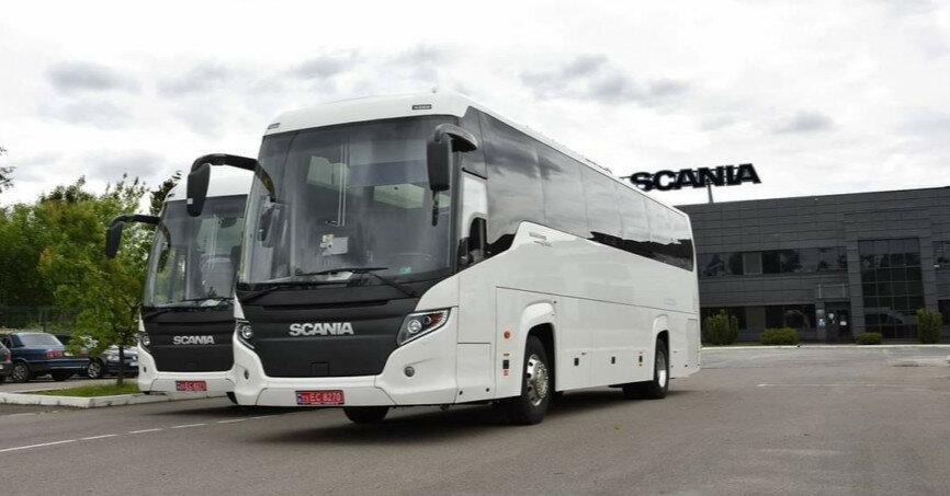 В Украину поставили интересные автобусы Scania