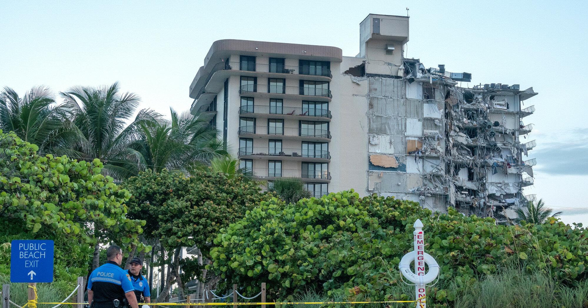 Появилось видео обрушения жилого дома в Майами