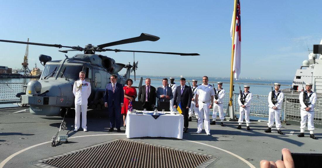 Украина и Великобритания договорились о совместном строительстве военных кораблей и баз