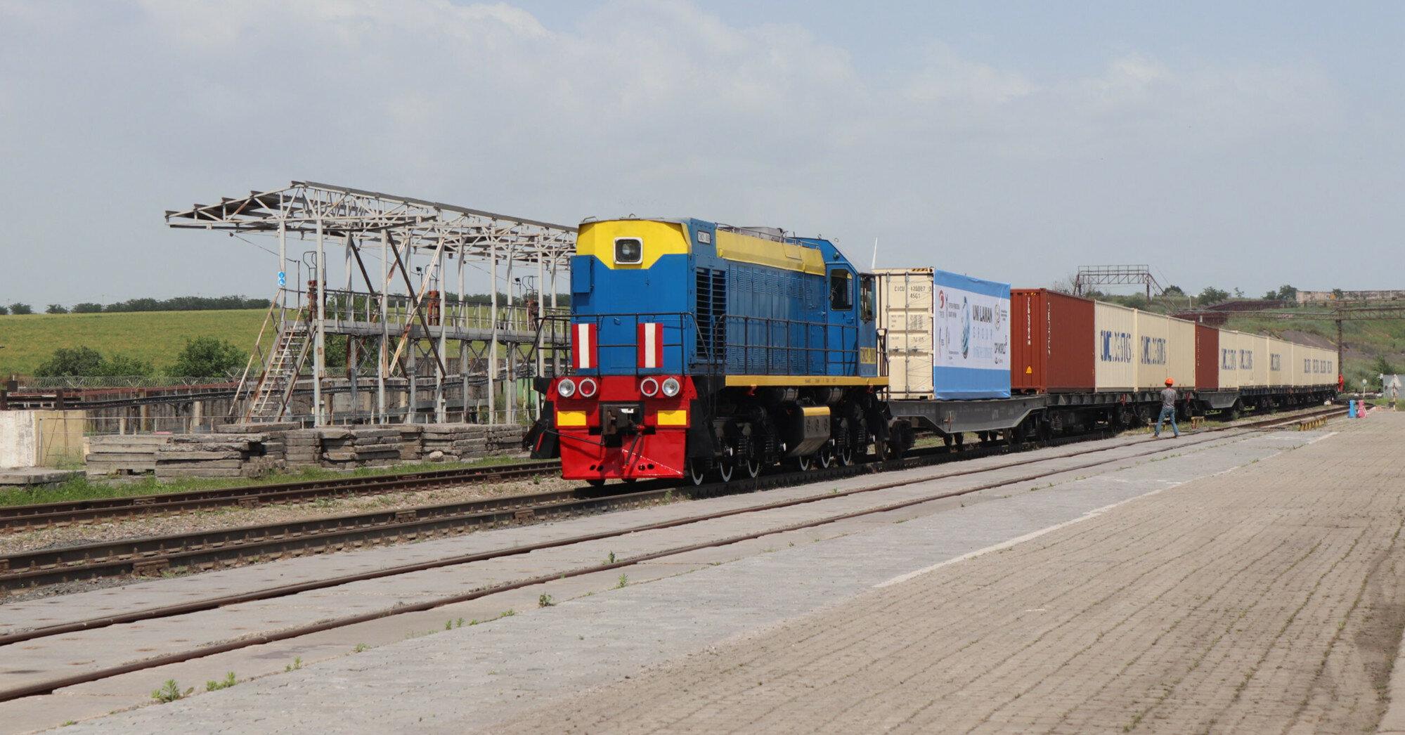 Прямой грузовой поезд Китай-Европа прибыл в Одесскую область