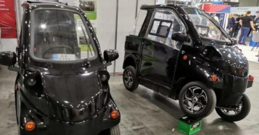 В Киеве представили электромобили украинского производства