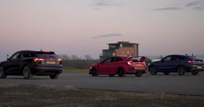 Электрика против бензина и дизеля: зрелищное видео гонок