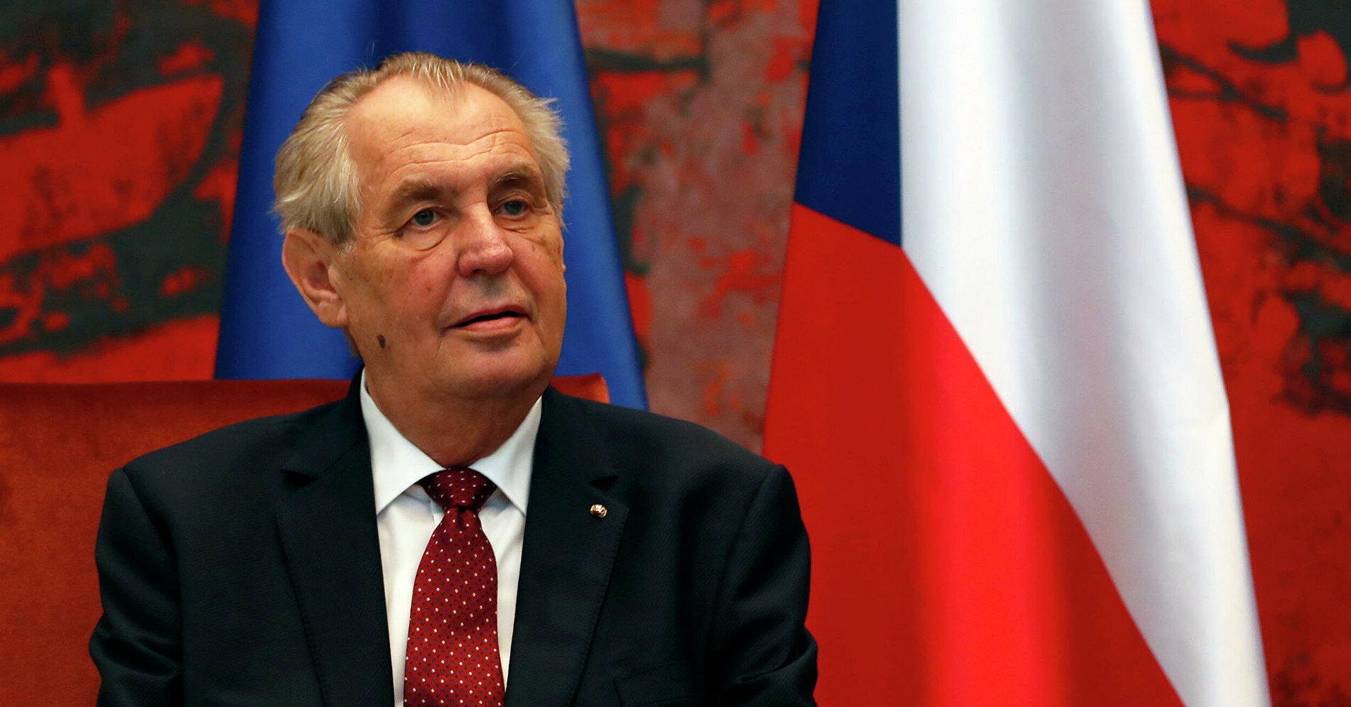 В Чехии собрались объявить импичмент Земану
