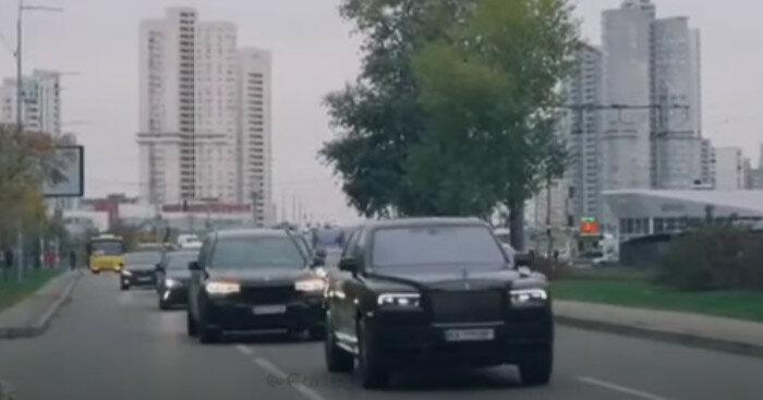 В Киеве сняли свадебный кортеж на миллион долларов