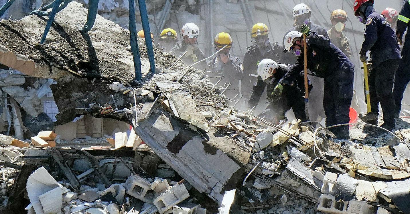В Китае обрушилось здание отеля, под завалами люди