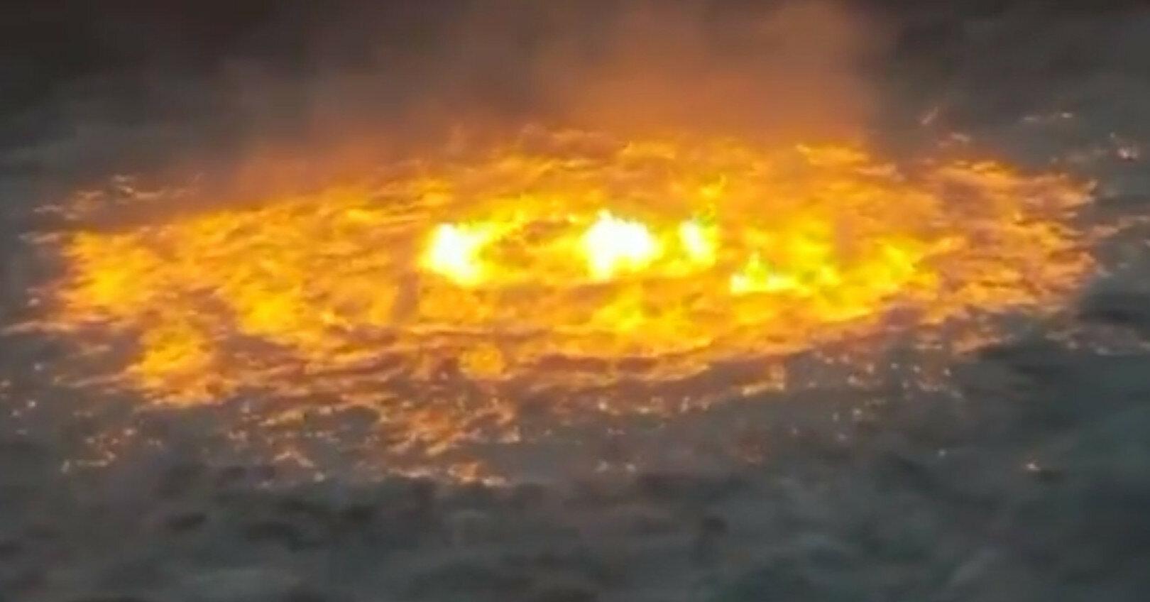 В Мексиканском заливе вспыхнул подводный пожар: видео