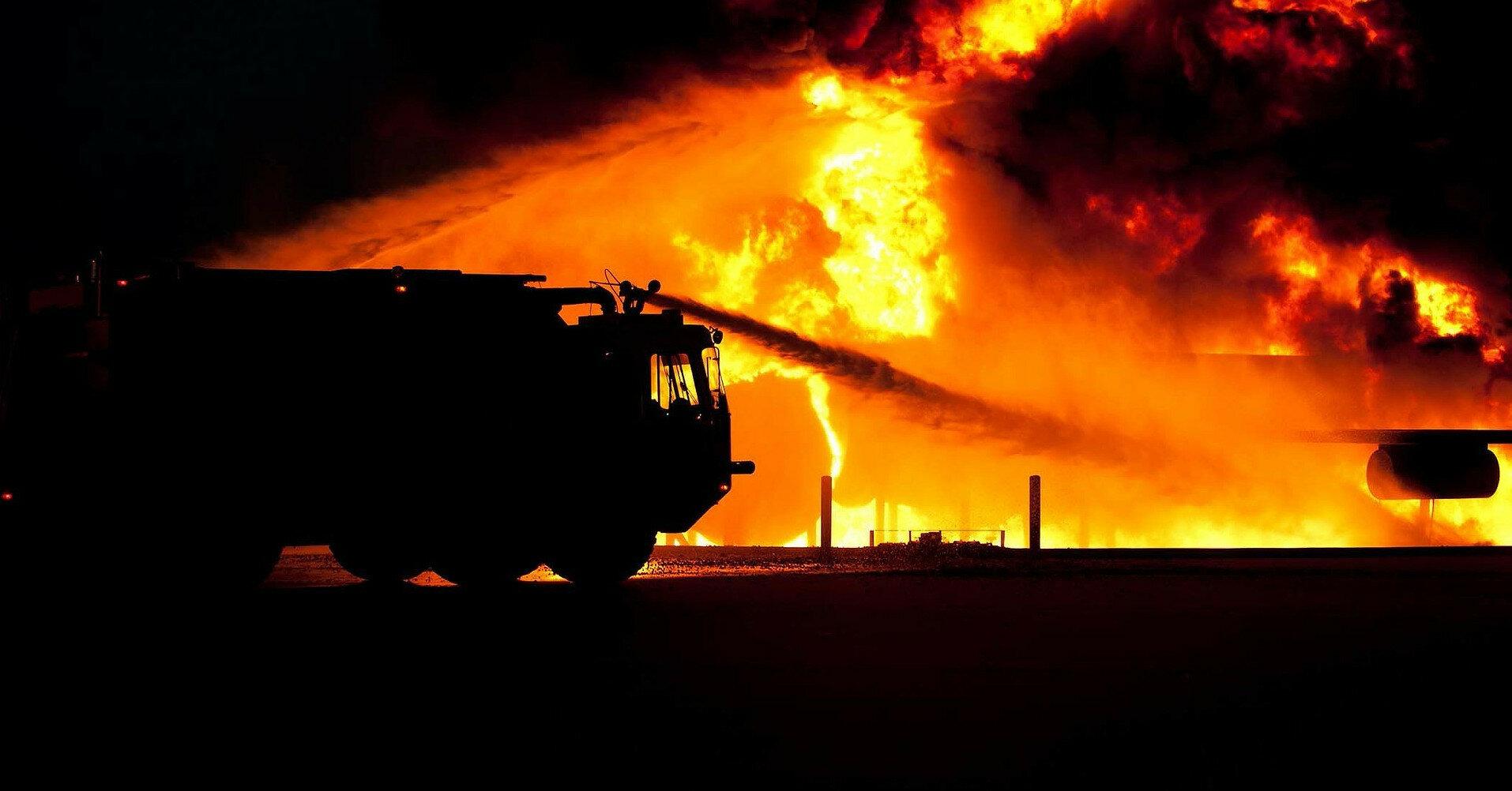 В Донецкой области произошел пожар на коксохимическом заводе
