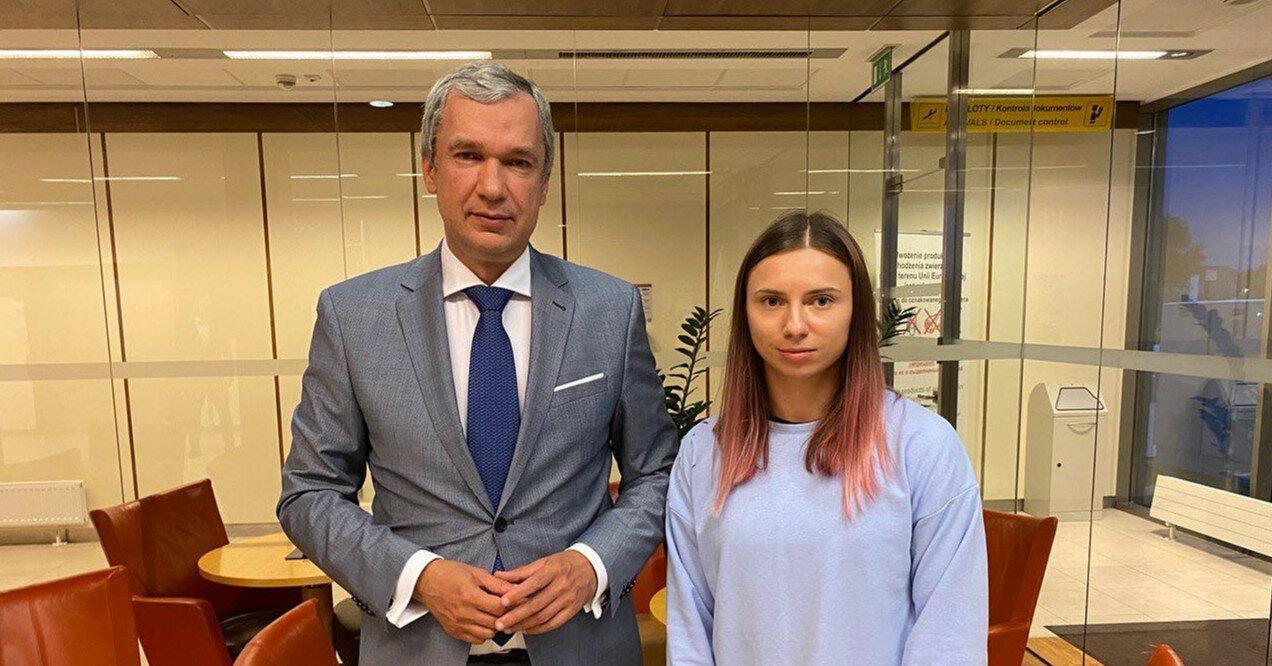 Белорусская спортсменка Тимановская прибыла в Варшаву