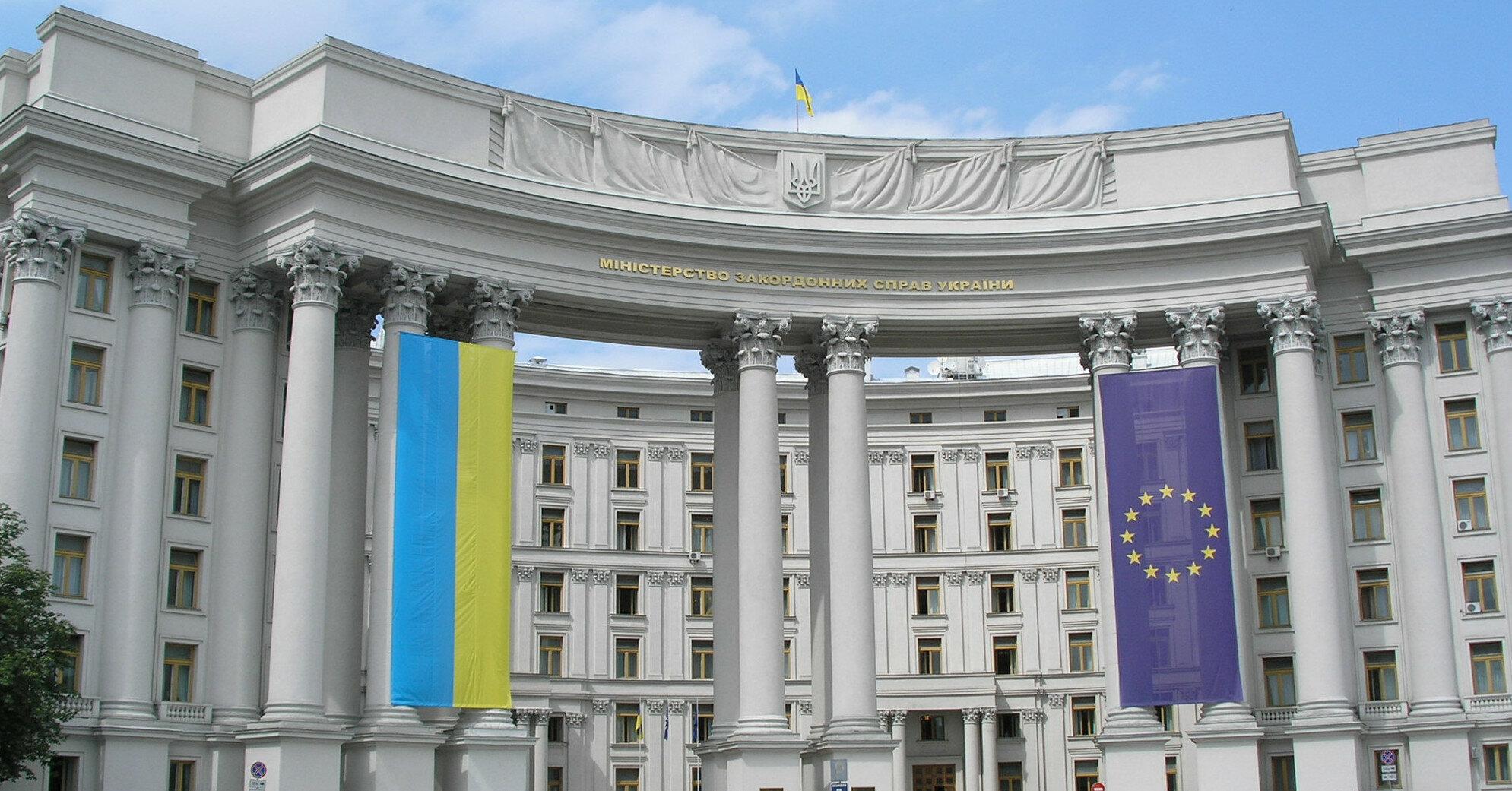 МИД Украины вызвал временного поверенного в делах Беларуси