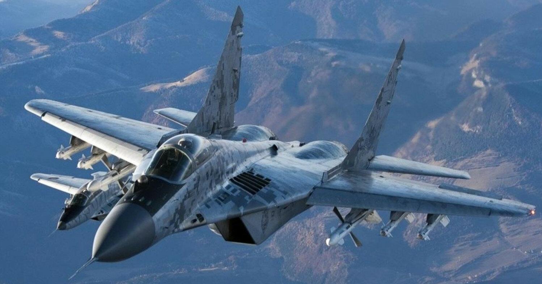 В России сгорел военный самолет