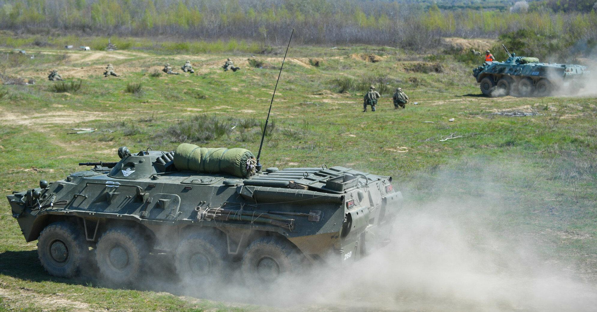 Украина начала масштабные военные тренировки